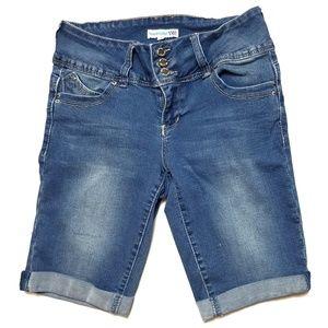 YMI Junior's Size 7 Blue Jean Shorts